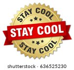 stay cool round isolated gold... | Shutterstock .eps vector #636525230