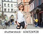 street fashion concept. young... | Shutterstock . vector #636526928
