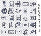 letter icons set. set of 25... | Shutterstock .eps vector #636528563
