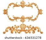 gold ornament on a white... | Shutterstock . vector #636531278