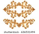 gold ornament on a white... | Shutterstock . vector #636531494