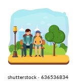 summer vacation outdoor ... | Shutterstock .eps vector #636536834