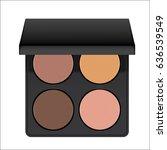 realistic nudes eyeshadow... | Shutterstock .eps vector #636539549
