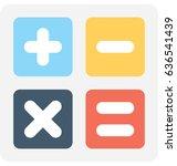 math symbols vector icon  | Shutterstock .eps vector #636541439