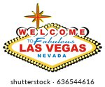 banner of las vegas with black... | Shutterstock . vector #636544616