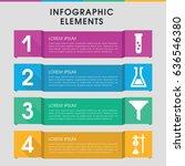modern fluid infographic... | Shutterstock .eps vector #636546380