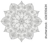black and white floral pattern... | Shutterstock . vector #636550634