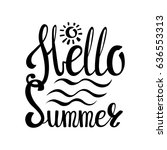 summer calligraphic design... | Shutterstock .eps vector #636553313