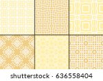 set of 6 decorative line... | Shutterstock .eps vector #636558404