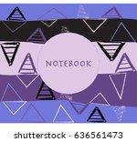 abstract gradient pattern... | Shutterstock .eps vector #636561473