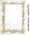 floral border   hand drawn...   Shutterstock .eps vector #63656764