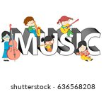 children and kids playing and... | Shutterstock .eps vector #636568208