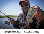 angler and perch | Shutterstock . vector #636582989