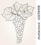 grape outline | Shutterstock .eps vector #63658408