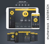 home page social application ui ...