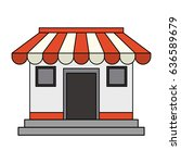 colorful image cartoon facade... | Shutterstock .eps vector #636589679