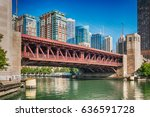 Chicago River With Lake Shore...