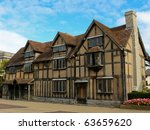 Small photo of William Shakespeare's Birthplace, Stratford upon Avon.
