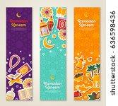 ramadan kareem concept vertical ... | Shutterstock .eps vector #636598436