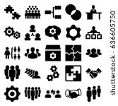 teamwork icons set. set of 25... | Shutterstock .eps vector #636605750