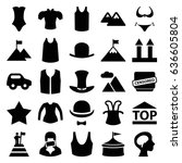 set of 25 filled icons such as... | Shutterstock .eps vector #636605804