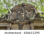 Small photo of Medici fountain (La Fontaine Medicis, 1630) a monumental fountain with sculptures by Auguste Ottin Galatea in Acis arms of the shepherd at Jardin du Luxembourg. Paris, France.