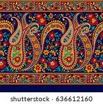 seamless paisley indian motif | Shutterstock . vector #636612160