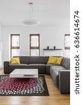 comfortable corner couch in... | Shutterstock . vector #636614674