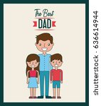 fathers day related icons and... | Shutterstock .eps vector #636614944