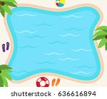 pool background in vector... | Shutterstock .eps vector #636616894