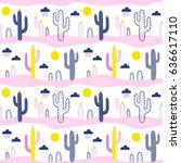 seamless vector pattern with... | Shutterstock .eps vector #636617110
