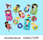 pool party or lake party vector ... | Shutterstock .eps vector #636617209