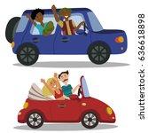 vector illustration. family... | Shutterstock .eps vector #636618898