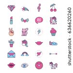 girly icon image  | Shutterstock .eps vector #636620260