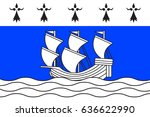 flag of redon is a commune in... | Shutterstock . vector #636622990