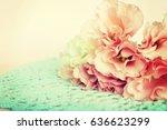 roses background | Shutterstock . vector #636623299