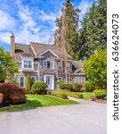 luxury house in vancouver ... | Shutterstock . vector #636624073
