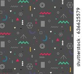 geometric flat pattern. | Shutterstock .eps vector #636625579