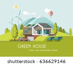 green energy and eco friendly... | Shutterstock .eps vector #636629146