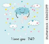 colorful and sweet card for... | Shutterstock .eps vector #636631099