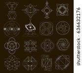 sacred geometry | Shutterstock .eps vector #636632176
