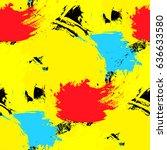 brushstrokes seamless bold... | Shutterstock . vector #636633580