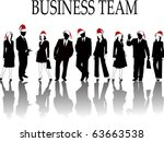 the vector business silhouette | Shutterstock .eps vector #63663538