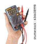 digital multimeter isolated on... | Shutterstock . vector #636638998