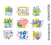 big sale set for label design.... | Shutterstock .eps vector #636642958