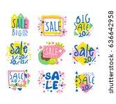 big sale set for label design.... | Shutterstock .eps vector #636642958
