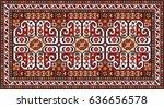 colorful oriental mosaic gabbeh ... | Shutterstock .eps vector #636656578