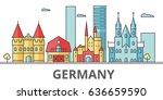 germany city skyline. buildings ... | Shutterstock .eps vector #636659590
