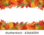 autumn falling leaves  isolated ... | Shutterstock . vector #63666004