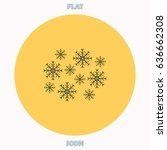 snowflakes blue outline vector...